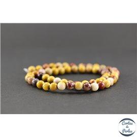 Perles semi précieuses en mookaite - Ronde/6 mm