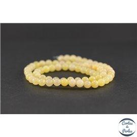 Perles semi précieuses en aventurine jaune - Ronde/6 mm