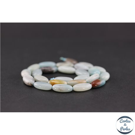Perles semi précieuses en amazonite - Ovale/16 mm