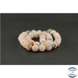 Perles semi précieuses en jaspe rose - Ronde/10,5 mm