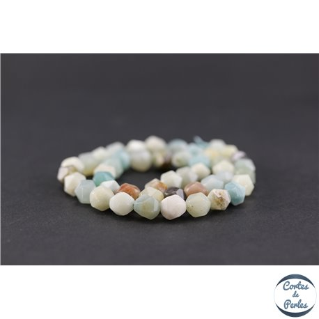 Perles semi précieuses en amazonite - Pépite/8 mm