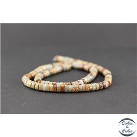 Perles semi précieuses en serpentine - Roue/6 mm