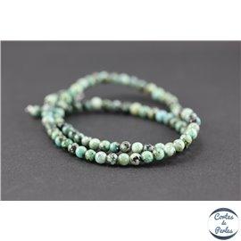 Perles semi précieuses en jaspe impérial - Ronde/4 mm