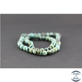 Perles semi précieuses en jaspe impérial - Ronde/6 mm