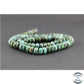 Perles semi précieuses en jaspe impérial - Roue/8 mm