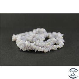 Perles en calcédoine rubanée bleue - Chips/10mm