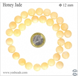Perles en honey jade - Rondes/12mm