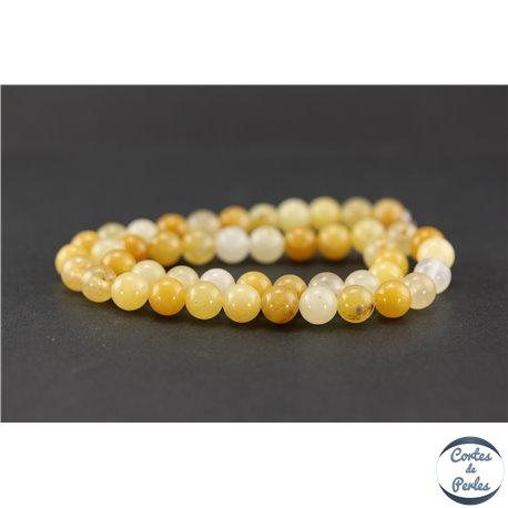 Perles semi précieuses en aventurine jaune - Ronde/8 mm