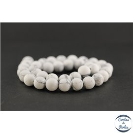 Perles semi précieuses en howlite dépolie - Ronde/10 mm