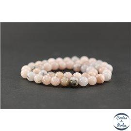 Perles semi précieuses en jaspe rose - Ronde/8,5 mm