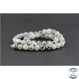 Perles semi précieuses en jaspe sésame - Ronde/8,5 mm