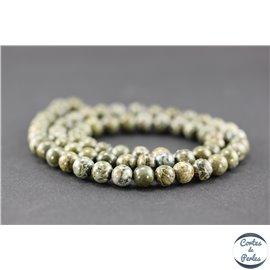 Perles semi précieuses en jaspe crocodile - Ronde/6 mm