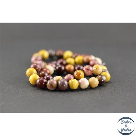 Perles semi précieuses en mookaite - Ronde/8 mm