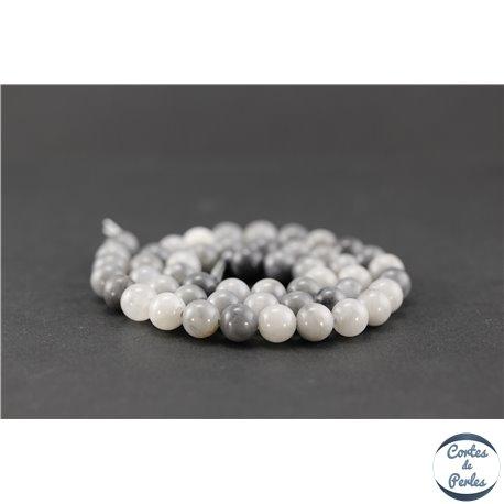 Perles semi précieuses en oeil de faucon - Ronde/8,5 mm