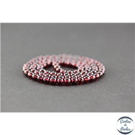 Perles semi précieuses en grenat US - Ronde/4 mm - Grade AA