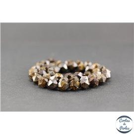 Perles semi précieuses en bronzite - Pépite/8 mm