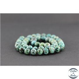 Perles semi précieuses en jaspe impérial - Ronde/8 mm