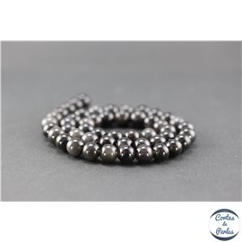 Perles en obsidienne ice - Rondes/8 mm