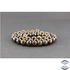 Perles semi précieuses en bronzite - Ronde/8 mm