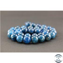 Perles semi précieuses en apatite - Ronde/12 mm - Grade A
