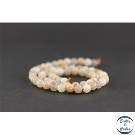 Perles en pierre de Soleil et en pierre de Lune - Ronde/6 mm - Grade A