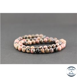 Perles en rhodonite - Rondes/6mm