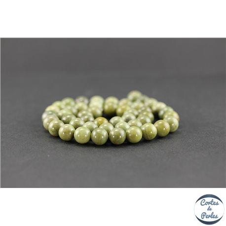 Perles semi précieuses en quartz vert - Ronde/8 mm