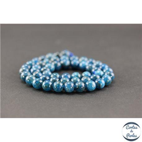Perles semi précieuses en apatite - Ronde/8 mm - Grade A