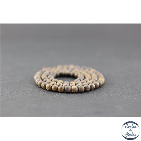 Perles en bronzite dépolie - Ronde/4,5 mm