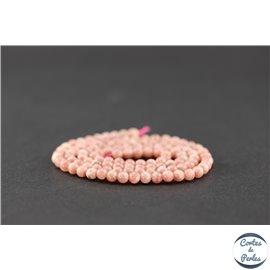 Perles en rhodochrosite d'Argentine - Ronde/3,5 mm - Grade A