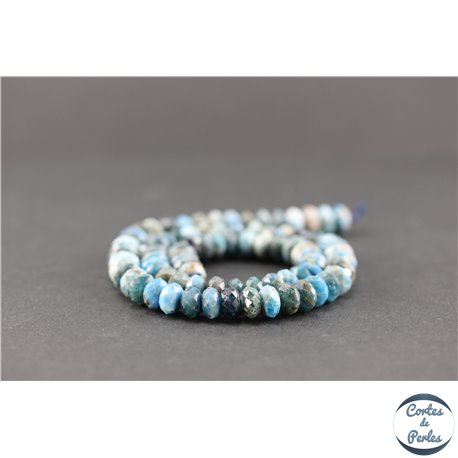 Perles semi précieuses en apatite - Roue/7,5 mm