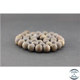 Perles en bronzite dépolie - Ronde/10 mm