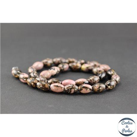 Perles en rhodonite - Olive/8 mm