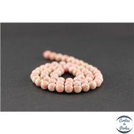 Perles en rhodochrosite d'Argentine - Ronde/6,5 mm - Grade AB