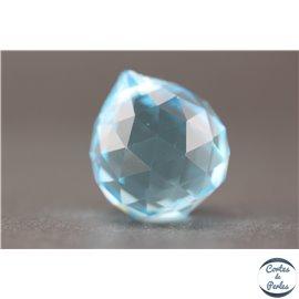 Lot de 3 pendentifs en cristal - Gouttes/21 mm - Turquoise