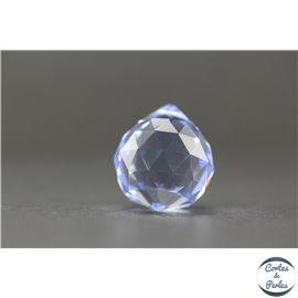 Lot de 3 pendentifs en cristal - Gouttes/21 mm - Light saphir