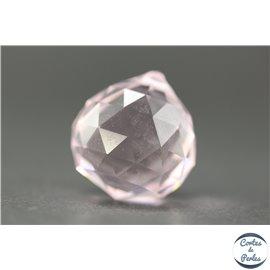 Lot de 3 pendentifs en cristal - Gouttes/21 mm - Rosaline