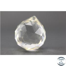Lot de 3 pendentifs en cristal - Gouttes/21 mm - Cristal AB