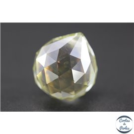 Lot de 3 pendentifs en cristal - Gouttes/21 mm - Jonquille