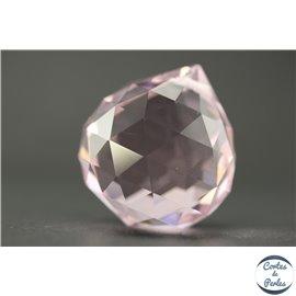 Lot de 3 pendentifs en cristal - Gouttes/31 mm - Rosaline