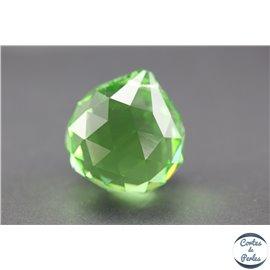 Lot de 3 pendentifs en cristal - Gouttes/31 mm - Lime green