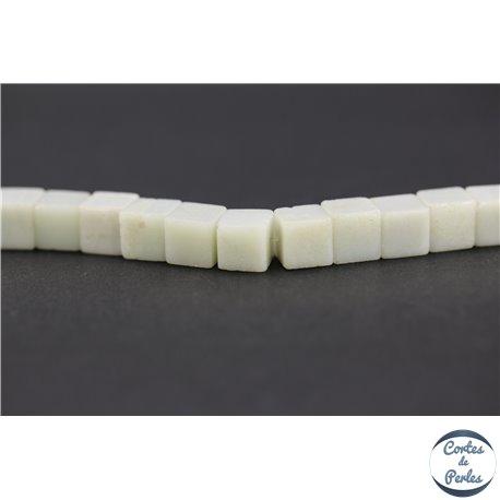 Perles semi précieuses en amazonite - Cubes/8 mm - Turquoise light