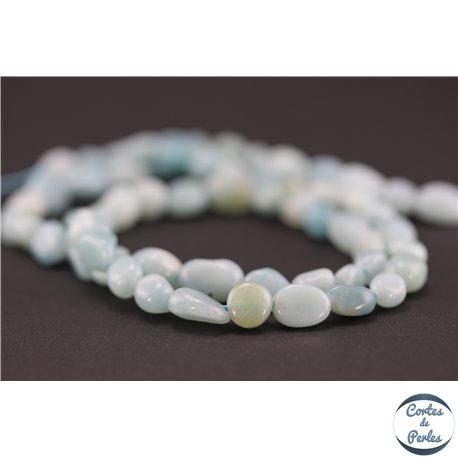 Perles semi précieuses en amazonite - Nuggets/5-10 mm - Aquamarine light