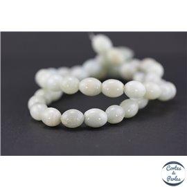 Perles semi précieuses en amazonite - Ovales - Turquoise light