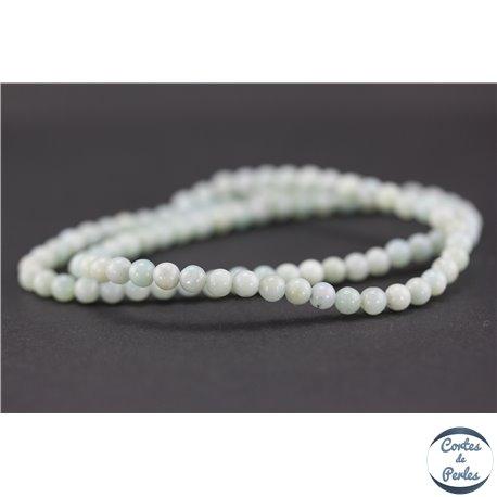 Perles semi précieuses en amazonite - Rondes/4 mm - Turquoise light - Grade AA