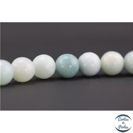 Perles semi précieuses en amazonite - Rondes/8 mm - Turquoise light