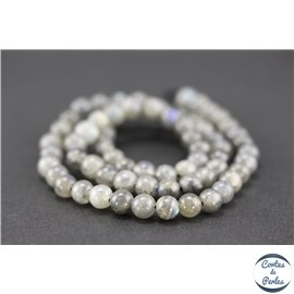 Perles en labradorite dark - Rondes/6mm - Grade A+