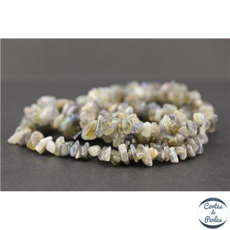 Perles semi précieuses en labradorite - Pépites/5 mm
