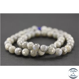 Perles semi précieuses facettées en labradorite - Rondes/8 mm