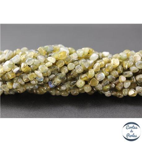 Perles semi précieuses en labradorite - Pépites/3 mm